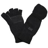 Pletené rukavice bez prstů - palčáky černé