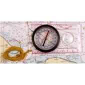 Mapový kompas s lupou