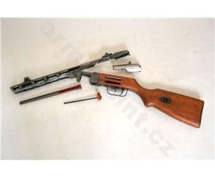 Řez samopalu Špagin PPŠ-41 / M41 znehodnocený