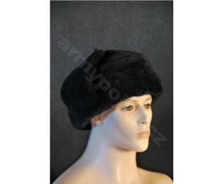 Sovětská zimní vojenská čepice - BERANICE - černá - Námořní