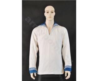 Košile námořnická - bílá s modrým límcem