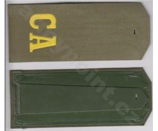 Nárameník 7 - zelený + žlutý nápis CA (plast) - Mužstvo na košile