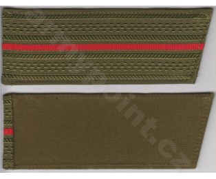 Nárameník 1 zelený červený pruh - PodPoručík až kapitán