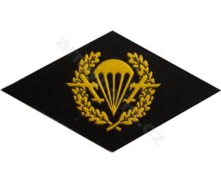 Nášivka symbol příslušnosti na hruď - Výsadkaři ČERNÉ