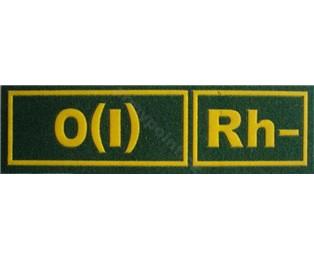 0(I)Rh- ZELENÁ - Nášivka krevní skupiny