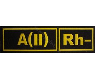 A(II)Rh- ČERNÁ - Nášivka krevní skupiny