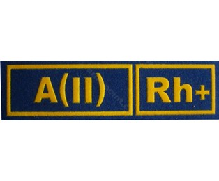 A(II)Rh+ MODRÁ - Nášivka krevní skupiny