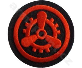 Nažehlovací symbol příslušnosti - Elektrostrojní oddíl Nám. Pěchoty (kulatá)
