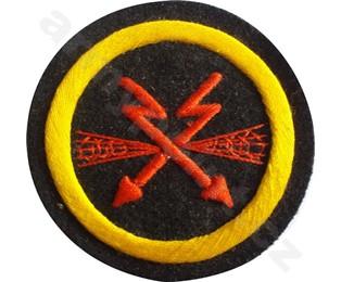 Nažehlovací symbol příslušnosti - Radistický oddíl Nám. Pěchoty (na svetr) (kulatá)