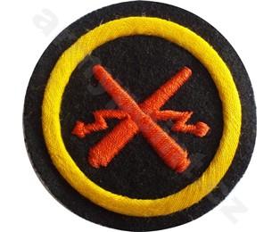 Nažehlovací symbol příslušnosti - Dělostřelecký oddíl Nám. Pěchoty (na svetr) (kulatá)