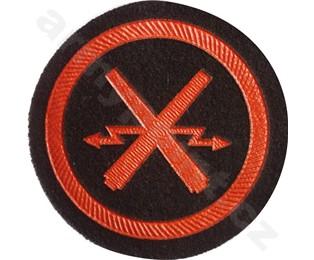 Nášivka symbol příslušnosti - Dělostřelecký oddíl Nám. Pěchoty (na na blůzu) (kulatá)