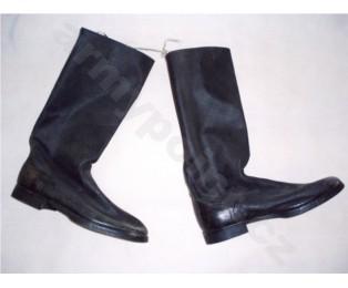 Sovětské vojenské vysoké boty pro mužstvo a poddůstojníky z umělé kůže