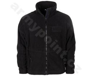Britská fleecová bunda černá, mírně použitá
