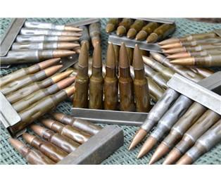 Maketa Nb 7,62x54R školní se železnou střelou páskovaná