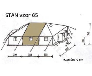 Nástavný díl k vojenskému stanu S 65