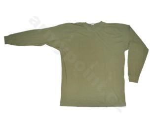 Nátělník khaki dlouhý rukáv, mírně použité