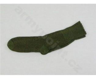 Ponožky 60 zelené zimní