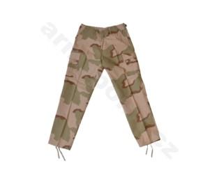 US BDU bojové kalhoty tříbarevný desert