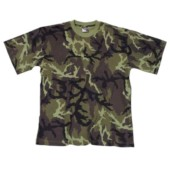 Tričko s krátkým rukávem, maskování vzor 95