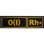 0(I)Rh+ ČERNÁ - Nášivka krevní skupiny