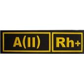 A(II)Rh+ ČERNÁ - Nášivka krevní skupiny
