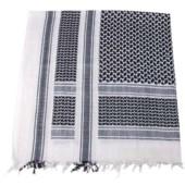 Šátek Palestina černo-bílá