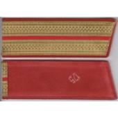Nárameník 5 - zlatý, rámovaný červeně + 1 x červený pruh - podPoručík až kapitán