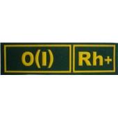 0(I)Rh+ ZELENÁ - Nášivka krevní skupiny