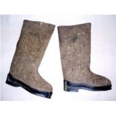 Sovětské vojenské vysoké boty zimní s gumovou podrážkou - VÁLENKY